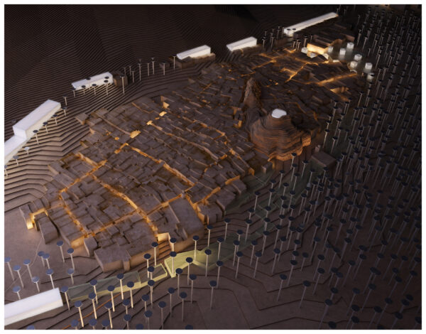 ArchitecturalModel_BlueScale_NJYStudio_Masterplan_Illuminated