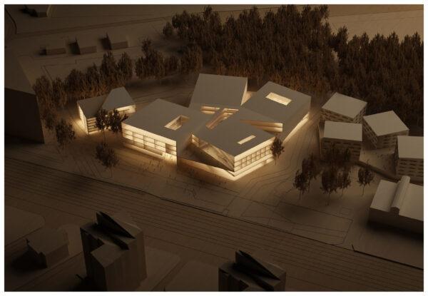 ArchitecturalModel_BlueScale_NJYStudio_Wood_Illuminated